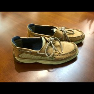 Boys 6M Sperry- Lanyard style boat shoes